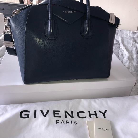 3d012b8bd4e Givenchy Bags | Antigona Bag Navy Bluesilver Hardware | Poshmark